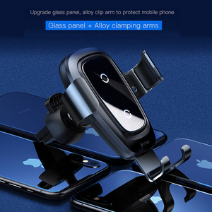 Image 2 - Baseus Qi Wireless Charger Car Phone Holder For iPhone Samsung Huawei Air Vent Mount Phone Car Holder Stand Bracket Car Accesori