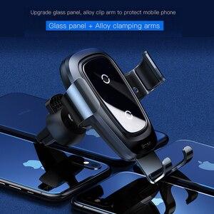 Image 2 - Baseus Qi chargeur sans fil voiture support de téléphone pour iPhone Samsung Huawei évent montage téléphone support de voiture support support voiture Accesori