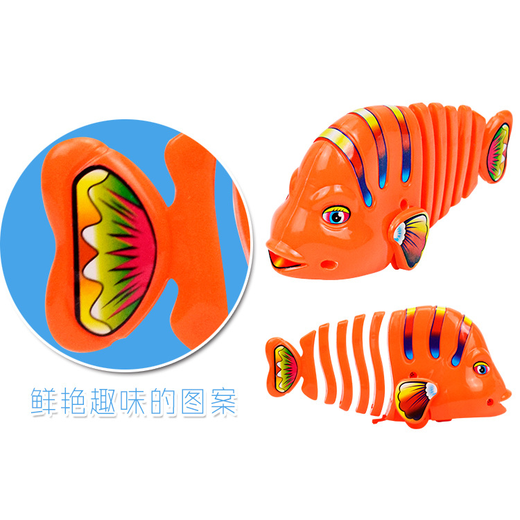 Shang Lian Yu Colorful Winding Sway Fish Spring Sway Cartoon Fish-Winding Toy Fish Stall Hot Selling