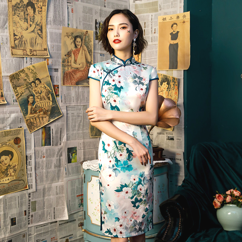 SHENG COCO Vestido Longo Festa Qipao China Banquet Clothing Traditional Chinese Dress Female Cheongsam Modern