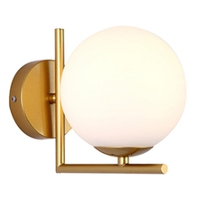Modern Style Led Wall Lamp Nordic Glass Ball Passage Corridor Bedroom Bedside Gold