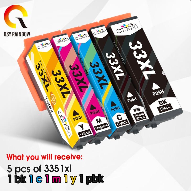 5 шт. Comepatible для EPSON 33XL T3351 чернильный картридж для Expression Premium XP 530 630 640 635 645 830 900 принтер