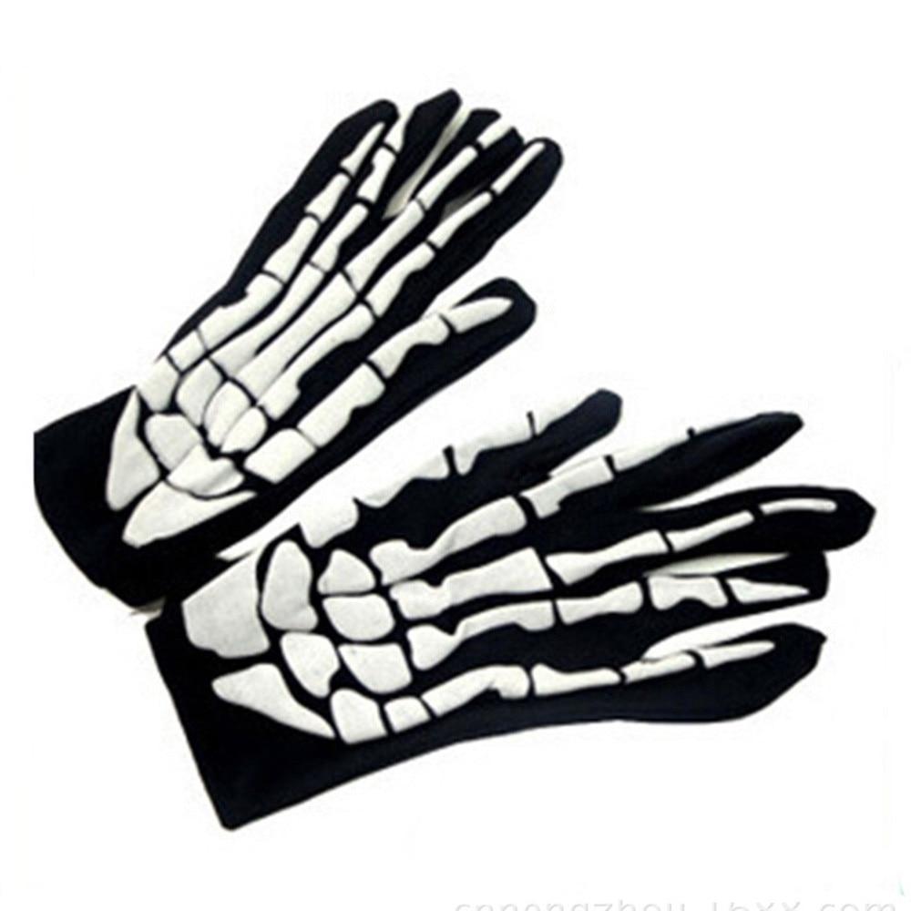 2019 Winter Gloves Full Fingers Gloves Halloween Horror Skull Claw Bone Skeleton Goth Racing Full Gloves   913#3