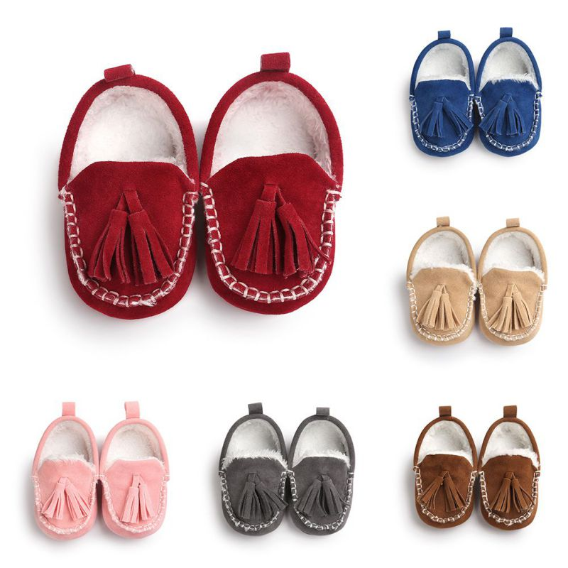 2020 New Toddler Baby First Walkers Newborn Baby Girls Shoes Toddler Prewalker Shoes Baby Boy Girl Tassel Pendant Shoes