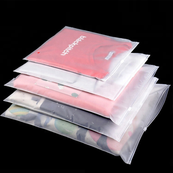High-end Thick Plastic Storage Bag Matte Clear Zipper Seal Travel Bags Zip Lock Valve Slide Seal Packing Pouch Cosmetic Clothing image