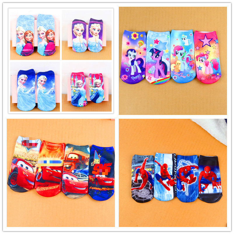 Children's Socks Comfortable Dream Boy Pony Beautiful Snow Princess Car In Summer Autumn New Cotton Boat Stocking 1-5 Years Old