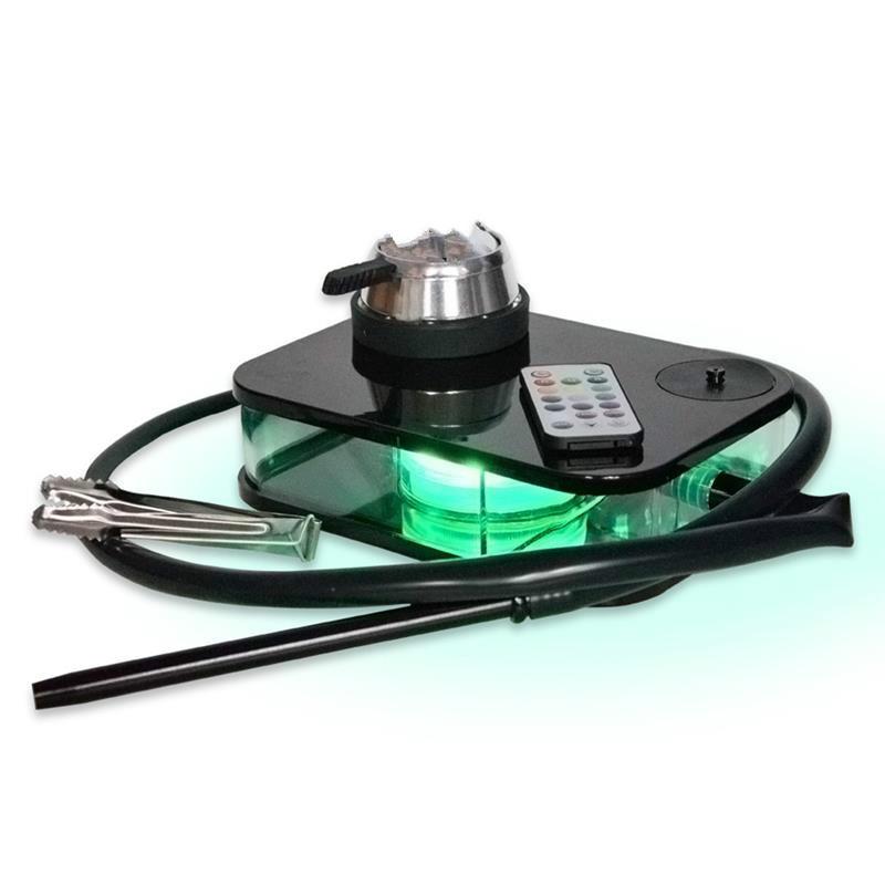 Black Box Acrylic Hookah Colorful LED Light Narghile Shisha With Remote Control Book Shaped Shisha Bong 1
