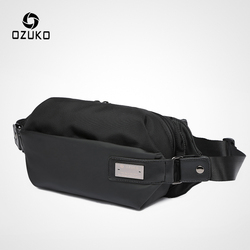 OZUKO Waist Pack Men Oxford Waterproof Fanny Pack Male Money Waist Belt Bag Mobile Phone Travel Chest Bag for Teenage Pouch Bags