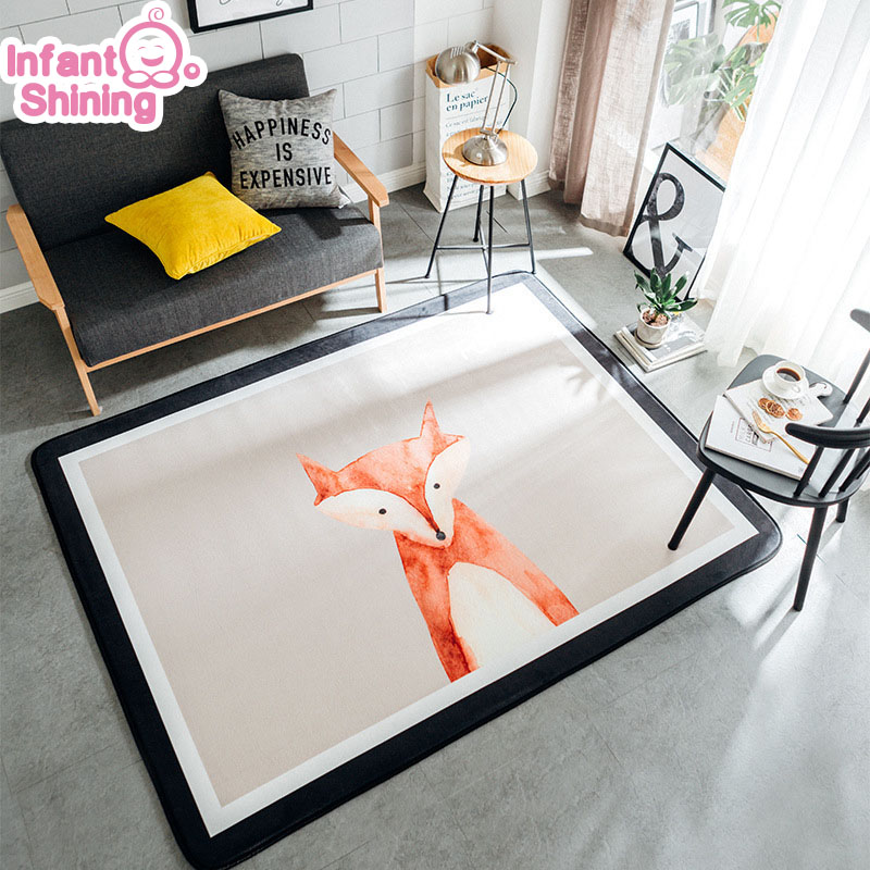 Infant Shining Baby Play Mat Northern Europe Carpet Thickening Children Bedroom Decor Living Room Rugs Non