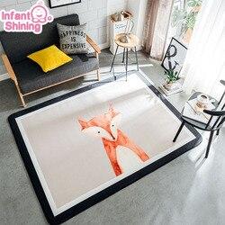 Infant Glänzende Baby Spielen Matte Nordeuropa Teppich Verdickung Kinder Schlafzimmer Decor Wohnzimmer Teppiche Non-slip Teppich Puzzle