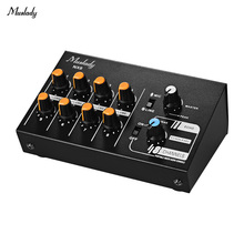 Audio-Sound-Mixer Ultra-Compact Stereo Muslady 8-Channels with Echo-Function NX8 Low-Noise