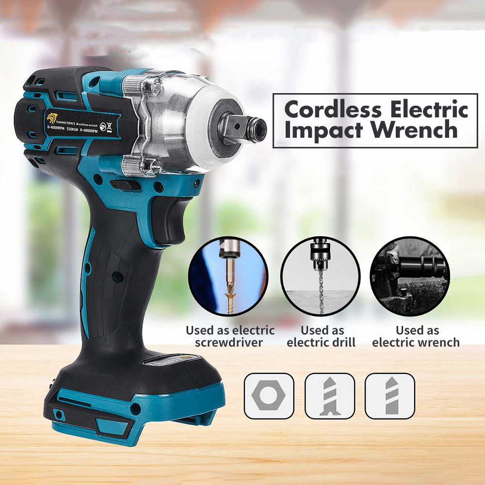 18V 280N.M/ 520N.M Brushless Cordless Electric Impact Wrench Host Electric Tools Stepless Speed Change Impact Driver Spanners