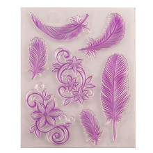 Прозрачные штампы с перьями прозрачные резиновые силиконовые