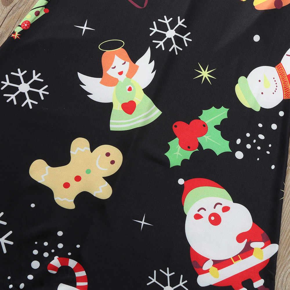 ร้อนชุดนอนคริสต์มาสคริสต์มาส Mommy & Me เด็กเด็กหญิงการ์ตูนพิมพ์ชุดครอบครัว pijama Navidad Familia # guahao
