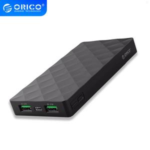 ORICO 10000mah Power Bank External Battery PoverBank 2 USB LED Powerbank Portable Mobile phone Charger for Xiaomi iphone Note 8(China)