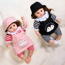 55cm reborn baby doll toy black baby girls realistic alive silicone doll play house toys wonderful birthday gift toys for girls 45CM Reborn Baby Dolls Silicone Toys For Girls Lifelike Laughing Cring Bebe Reborn Toddler Doll Toy Soft Dolls For Birthday Gift