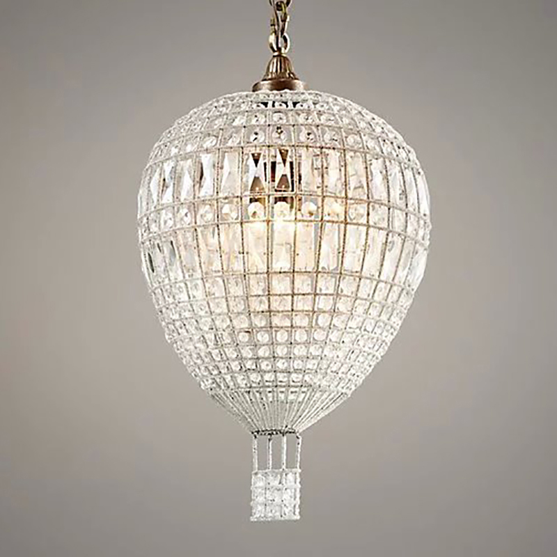 American Luxury Crystal Pendant Lights Loft Indoor Home Decorative Light In Baby's Room Bedroom French Balloon Suspension Lights