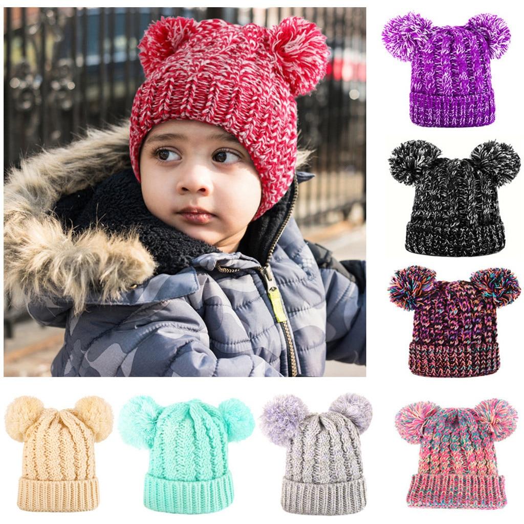 Trendy Toddler Kids Girl Boy Baby Infant Winter Warm Crochet Knit Hat Beanie Cap