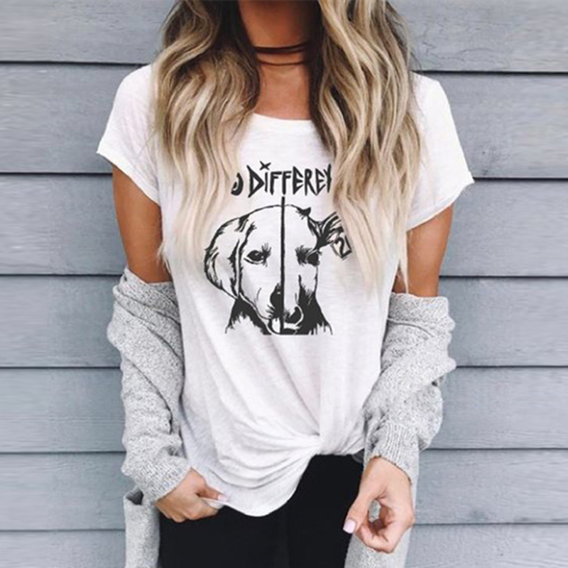 T-Shirt Women No-Difference Not-Food Plus-Size Fashion Print Tee