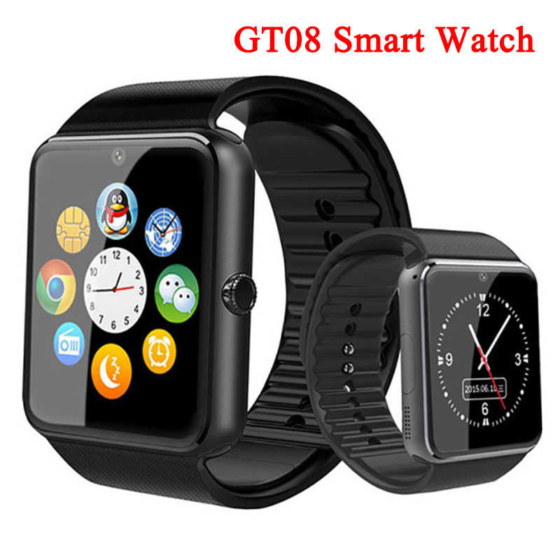Bluetooth A1 Smart Watch Touch Screen GT08 Smartwatch Support 2G SIM TF Card Camera Multi-language Smart watches For Android IOS