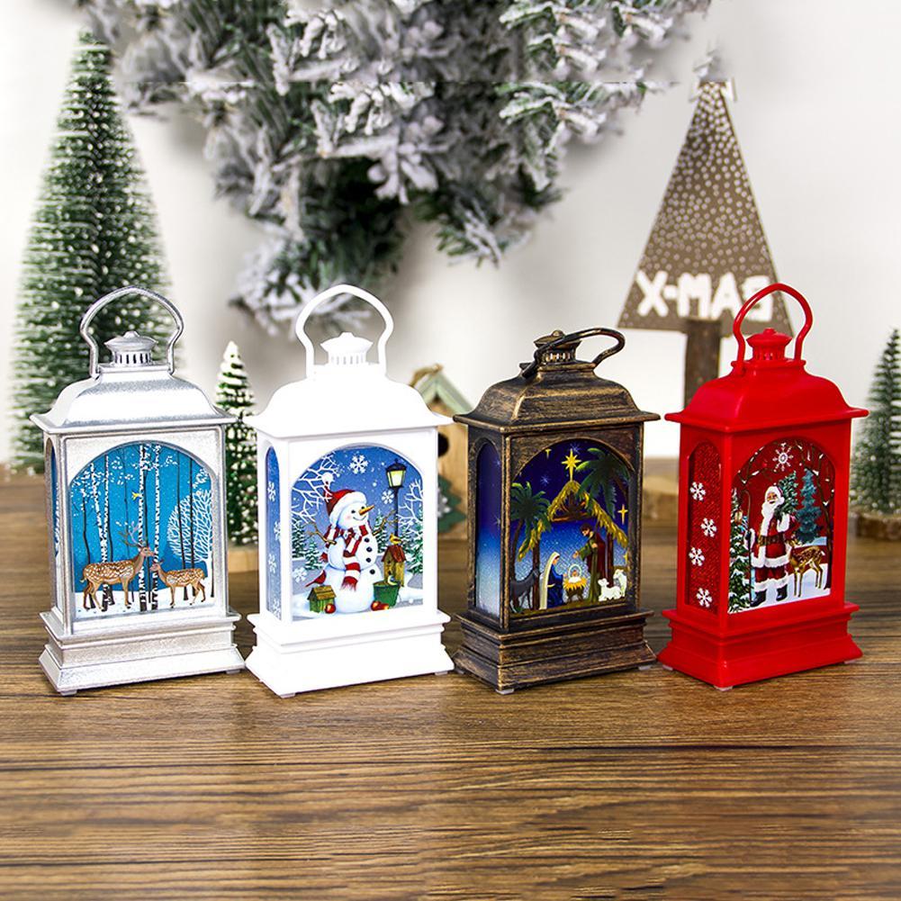 Coloured Drawing Lantern For Home Tea Light Christmas Tree Decoration Hanging Pendant