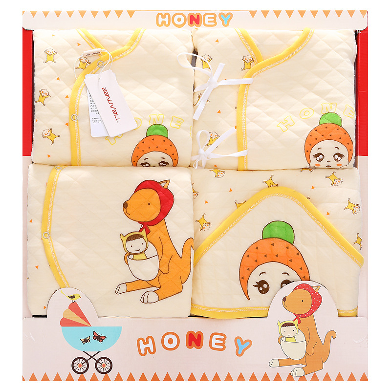 Clothes For Babies Gift Box Autumn And Winter Primary Infant Pure Cotton Gift Box Newborns Gift Box BABY'S FIRST Month Gift Pack