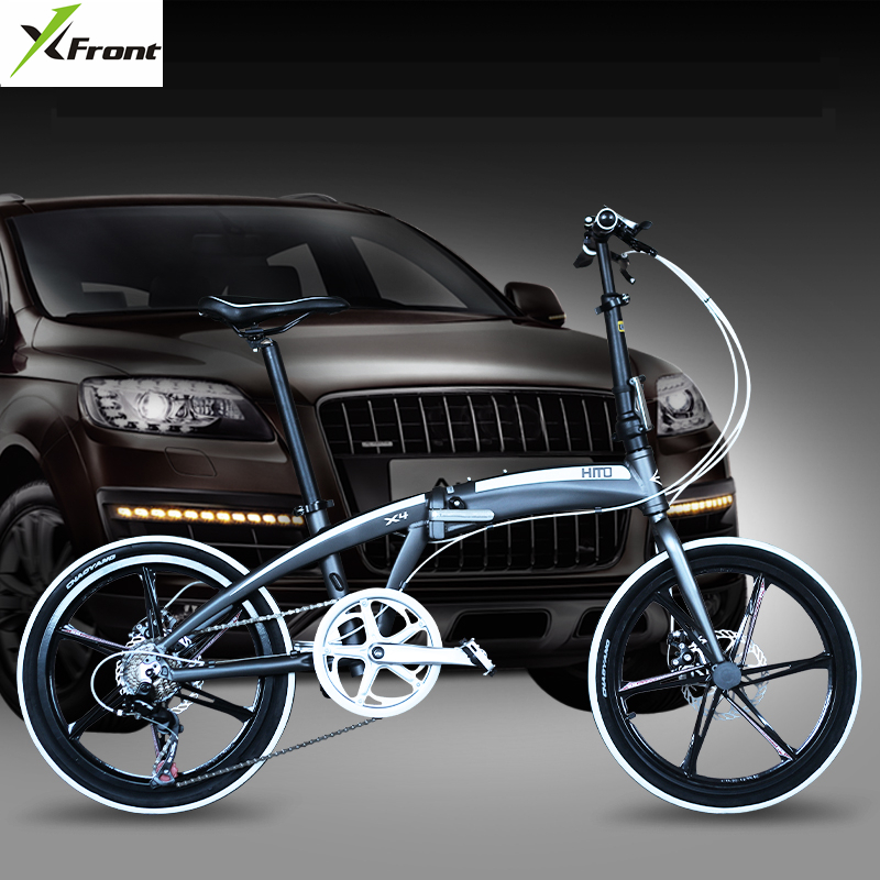 New brand 20/22 inch aluminum alloy frame 7 speed disc brake folding bike outdoor BMX bicicletas children lady bicycle image