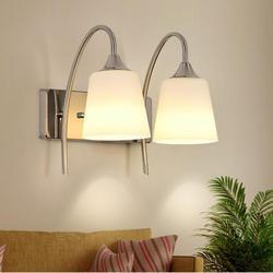 Nowoczesny szklany kinkiet AC 90-260V kreatywny romantyczny ścienne oświetlenie pokojowe do salonu nocna lampa do lustra łazienkowego