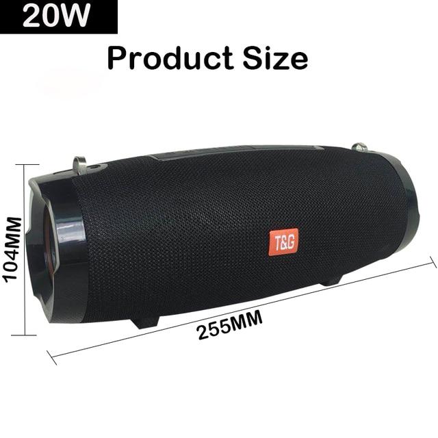 20W Waterproof Column Bluetooth Speaker 5