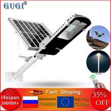 Led solar luz de rua à prova dwaterproof água ao ar livre luz solar 100 w conduziu a lâmpada solar ao ar livre luzes led solar para plaza jardim rua
