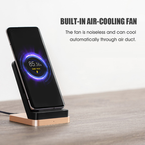 Image 3 - NEW Xiaomi 55W Wireless Charger Vertical Quick Charger Air cooled Wireless Charging Support Fast Charger For Xiaomi 10 Pro