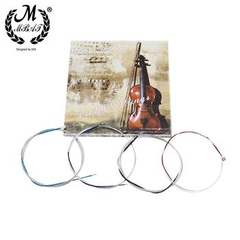 M MBAT AV12 struna do skrzypiec wysokiej jakości drut ze stali nierdzewnej naprawa i zestaw do konserwacji akcesoria do instrumentów muzycznych tanie i dobre opinie CN (pochodzenie) AV-12 Stainless Steel Wire String Nickel-plated Ball-end Silver Musical instrument accessories