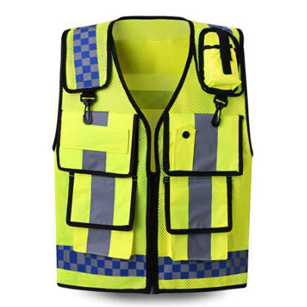 High Reflective Safety Work Vest ANSI Class 2 Multi Pockets Multi Colors PPE