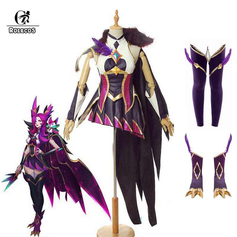 ROLECOS 2019 Star Guardian Xayah Cosplay Costume Game LOL Cosplay The Rebel Sexy Costume Shoes Cover Women Dress Halloween LOL