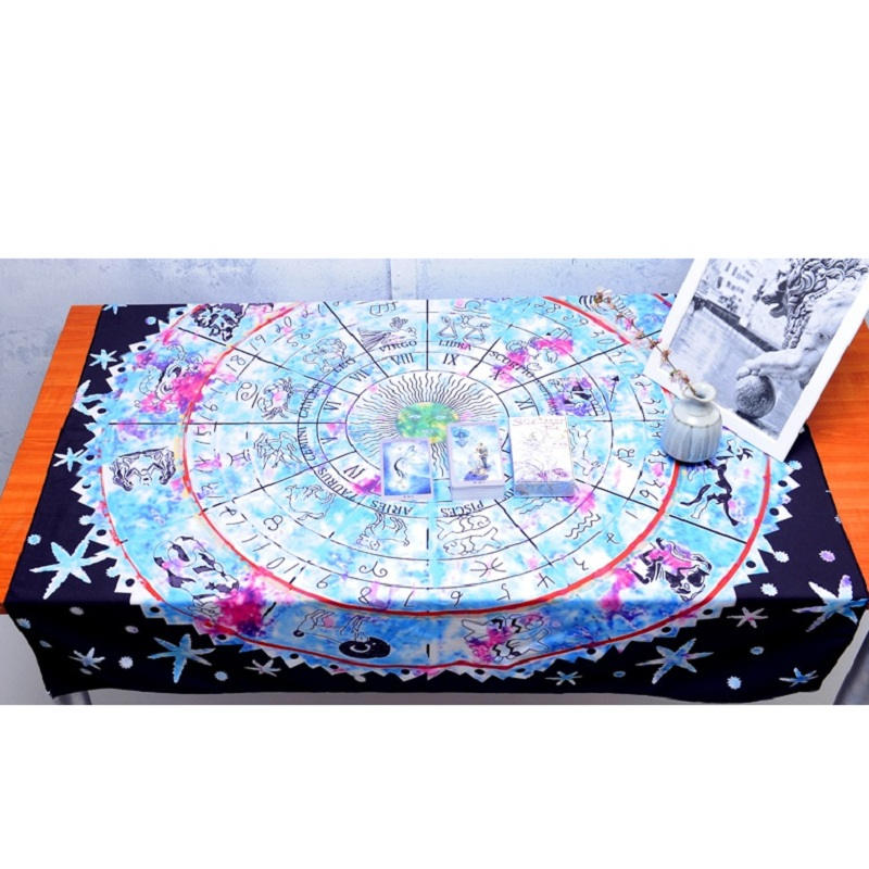 1X1.5m Tarot Card Divination Tablecloth Shadowscapes Witt Astrology Divination Props Astrological Board Game Altar Table Cloth
