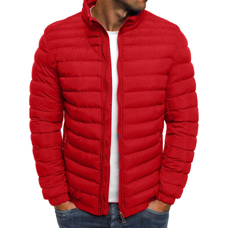 ZOGAA 2019 Winter Jacket Men Fashion Stand Collar Male Warm Jacket Mens Solid Thick Jackets And Coats Man Winter Coat Hot Sale
