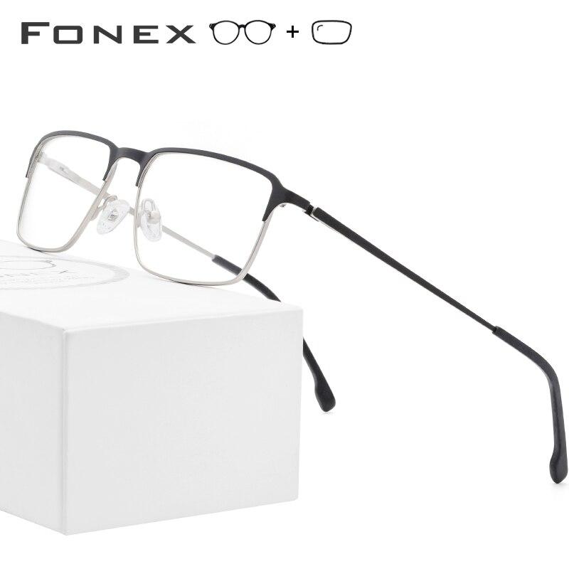 Alloy Prescription Glasses Men 2019 Ultra Light Full Eyeglasses Square Myopia Optical Frames Korean Screwless Eyewear