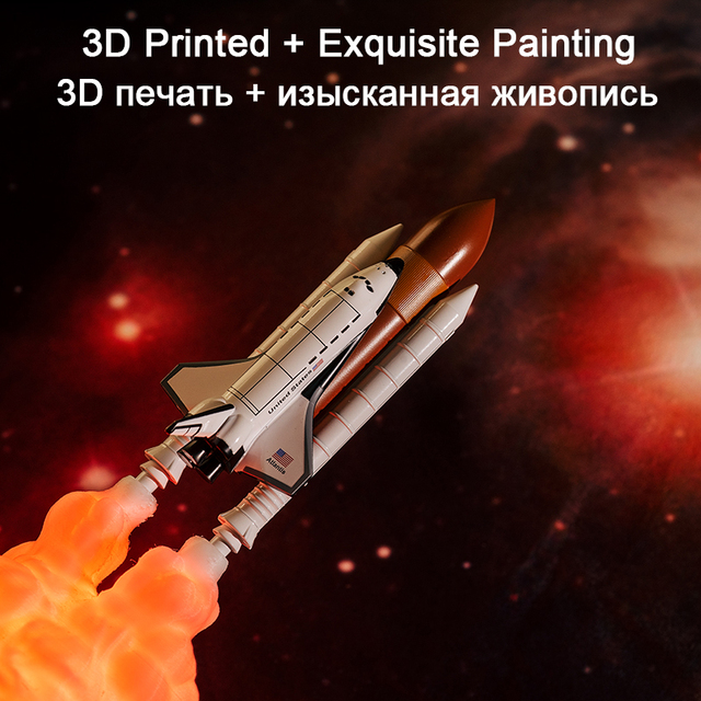 2019 New Dropshipping Space Shuttle Lamp and Moon lamps In Night Light By 3D Print For Space Lovers Rocket Lamp 2