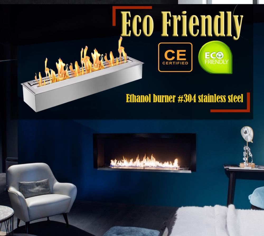 Hot Sale 62 Inch Stainless Steel Ethanol Fireplace Built In