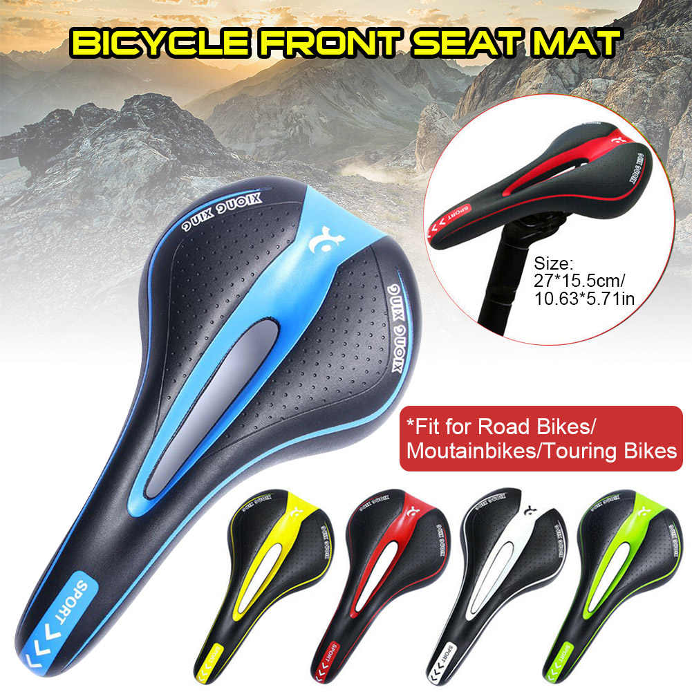 Bicycle Seat Comfort Mountain Gel Bike Cover Saddle Waterproof PU Soft Padded