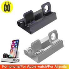 For airpods stand charging station For apple watch 4 charging stands 40mm/44mm/38mm/42mm For iphoneX/XR/XS Max/5/SE dock holder creative rainbow bridge charging stand bracket for iwatch aluminum alloy arc dock station charging cradle holder for apple watch