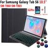 Podświetlany futerał na klawiaturę do Samsung Galaxy Tab S6 10.5 2019 SM T860 SM T865 T860 T865 Case klawiatura do Samsung Tab S6 10.5 okładka