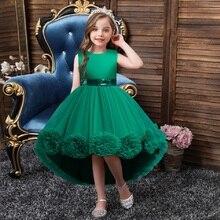 Летнее платье для девочки, модное повседневное хлопковое бальное платье без рукавов для выпускного вечера, вечеривечерние, дня рождения, 3,4,...