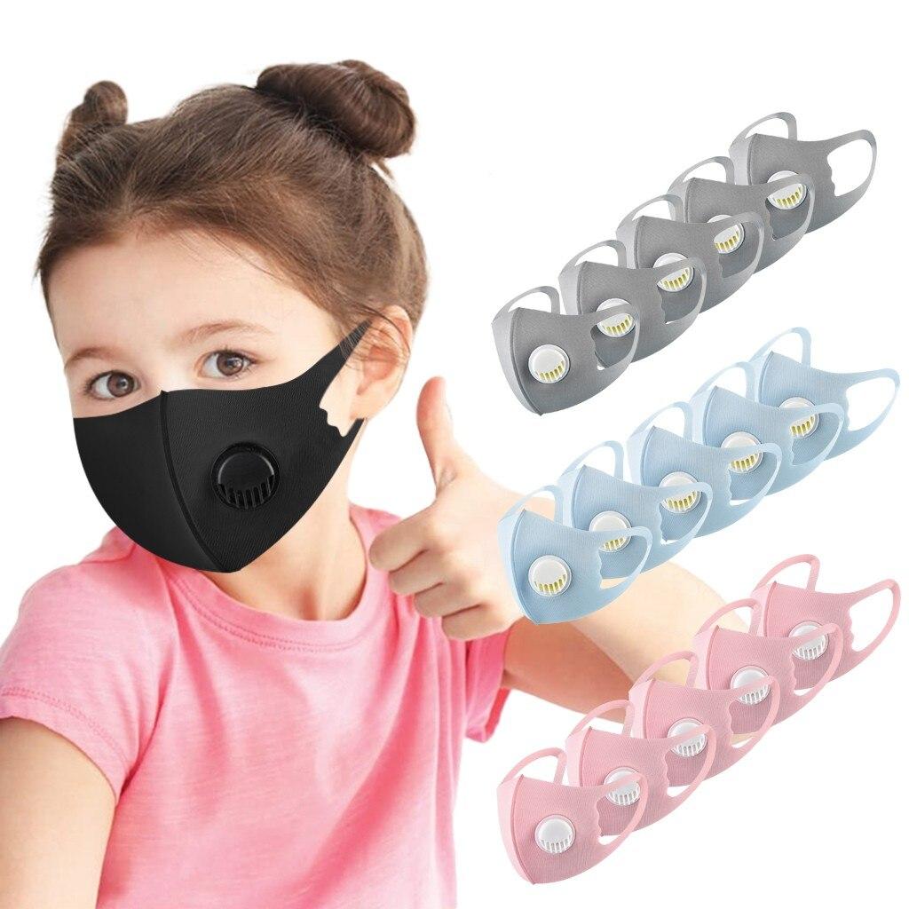 5 шт. детская эластичная маска с респиратором, детская многоразовая дышащая маска для лица, удобные Защитные чехлы для рта из ледяного шелка