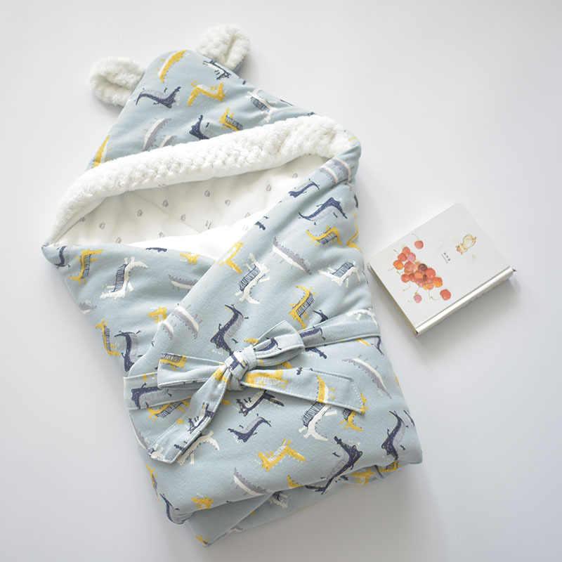 MOTOHOOD zima koce dla dzieci noworodka przewijać dziecko muślinu przewijać otulaczek ciepły koc dziecko bawełna wózek koce