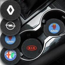 1 шт. Автомобильный держатель для чашки, подставка, нескользящий коврик, коврик, аксессуары для интерьера для SEAT ibiza 6j 6l fr Ateca Altea xl leon 2 Leon Alhambra