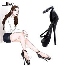Пикантные туфли-лодочки на высоком тонком каблуке 7 дюймов; вечерние маскарадные сандалии; унисекс