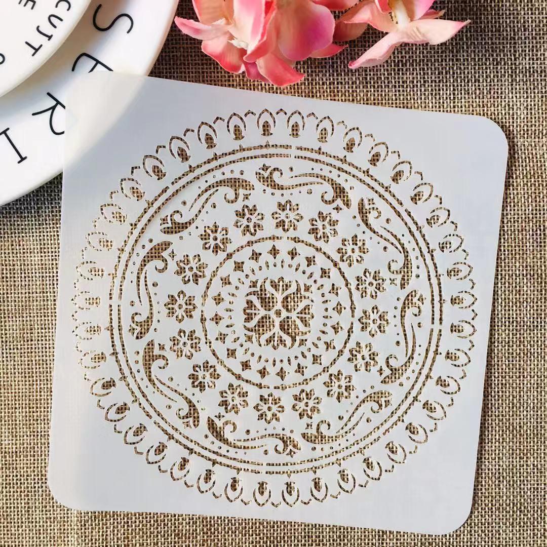 S M L Mandala Circle Geometry DIY Layering Stencils Painting Scrapbook Coloring Embossing Album Decorative Template