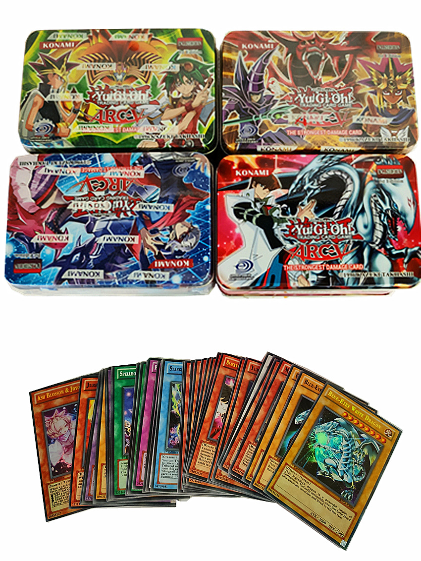 Yugioh 41 English Cards In Iron Box  Anime Game King Car English Cards Chess And Cards Collection Rare Cards