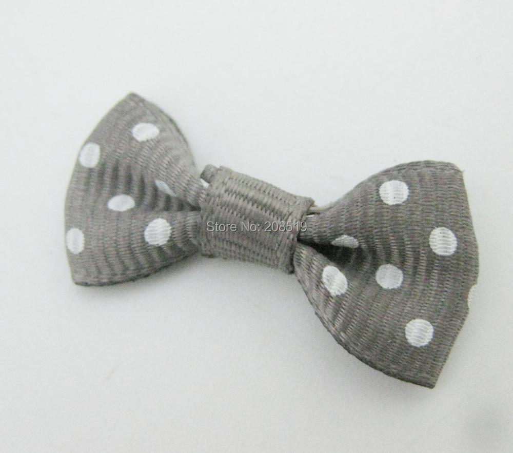 FZNNWE 100 шт маленький размер корсажная лента бабочка в горошек разноцветные DIY Швейные принадлежности ручной работы банты для волос Детские - Цвет: as show 21 gray